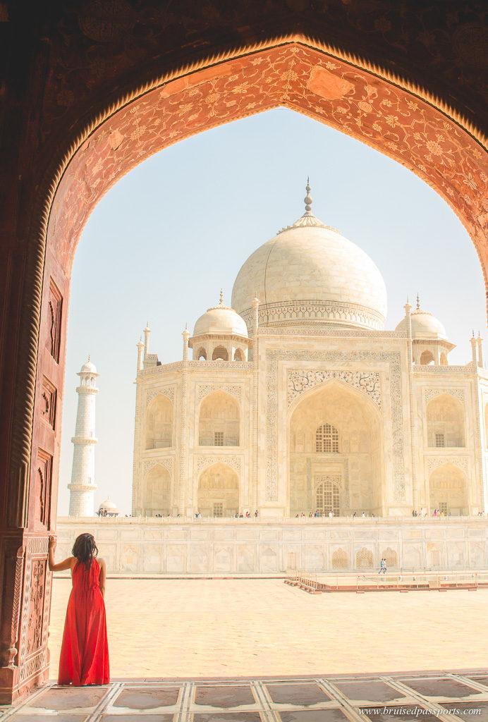 Taj Mahal mosque photograph