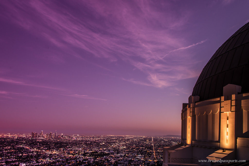 A gorgeous Californian sunset from Griffith Observatory near West Hollywood