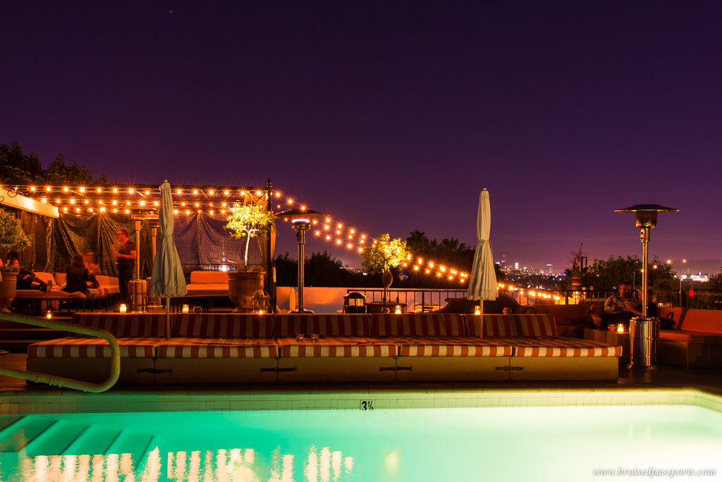 rooftop pool bar at La Petit Ermitage in West Hollywood