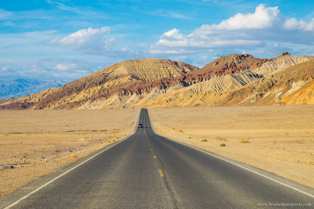 Driving through Death Valley National Park - best road trips in the world