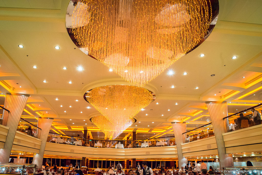 The dining room on Carnival Breeze review