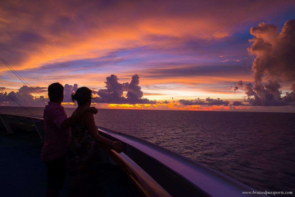 Carnival Breeze sunset