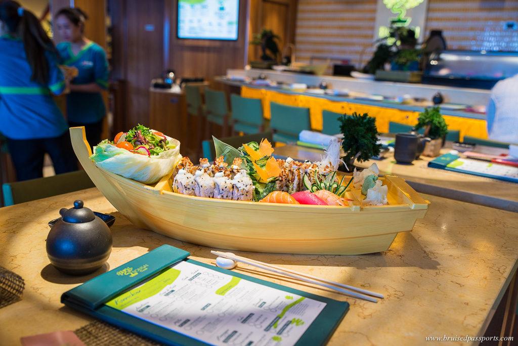 Sushi at Bonsai Restaurant on Carnival Breeze