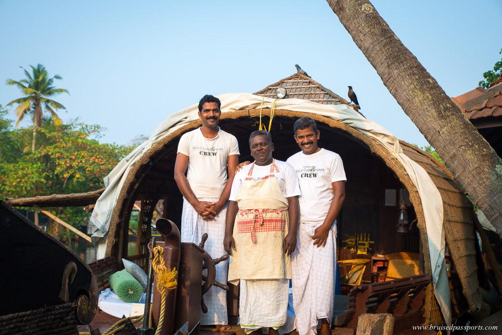Kerala house boat crew