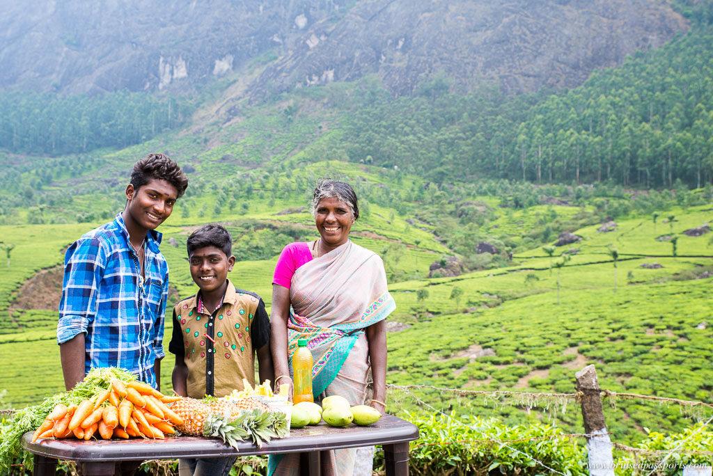 vendor in Munnar on Kerala Road Trip