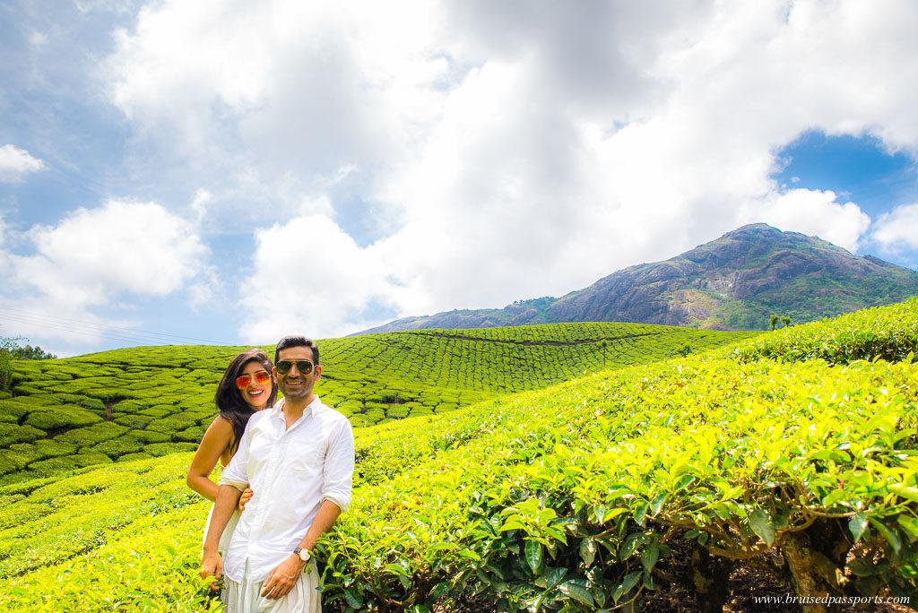 couple in munnar on Kerala Road Trip