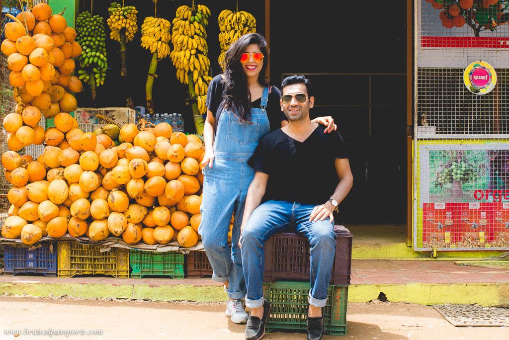 Indian couple on Kerala road trip
