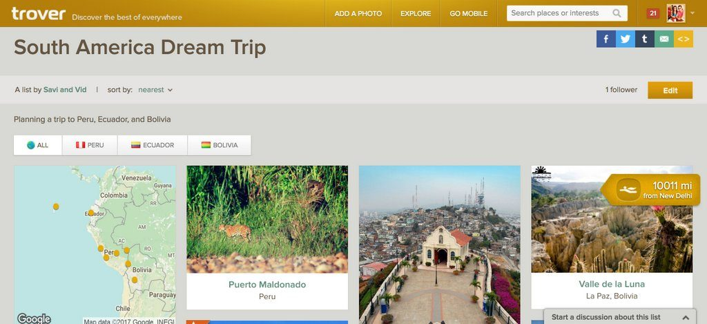 Using Trover to Discover the world