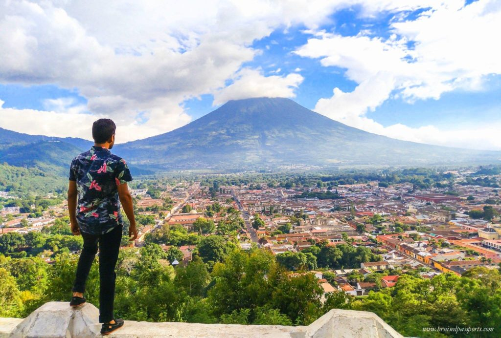 View from Cerro De LA Cruz in Antigua Guatemala