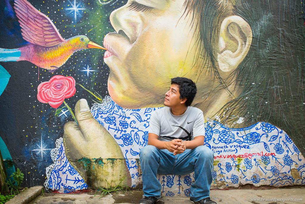 Street art San Pedro La Laguna Lake Atitlan