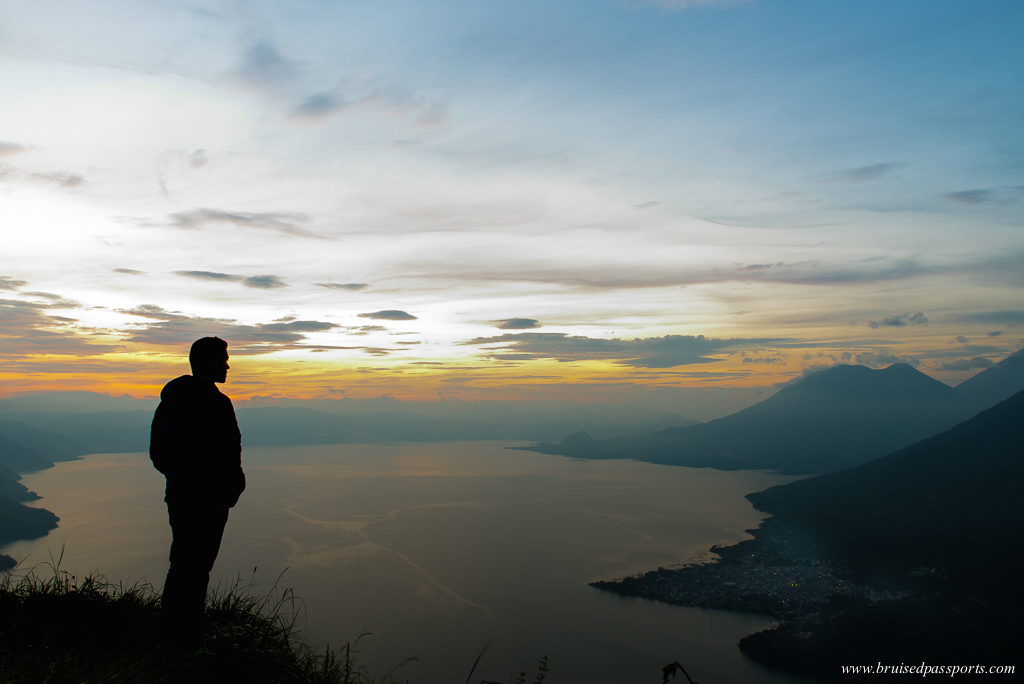 Indian nose sunrise hike San Juan La Laguna Lake Atitlan