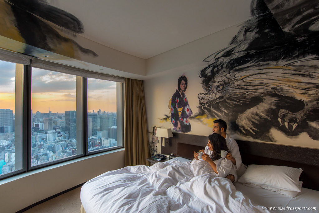Dragon artist room in Park Hotel Tokyo
