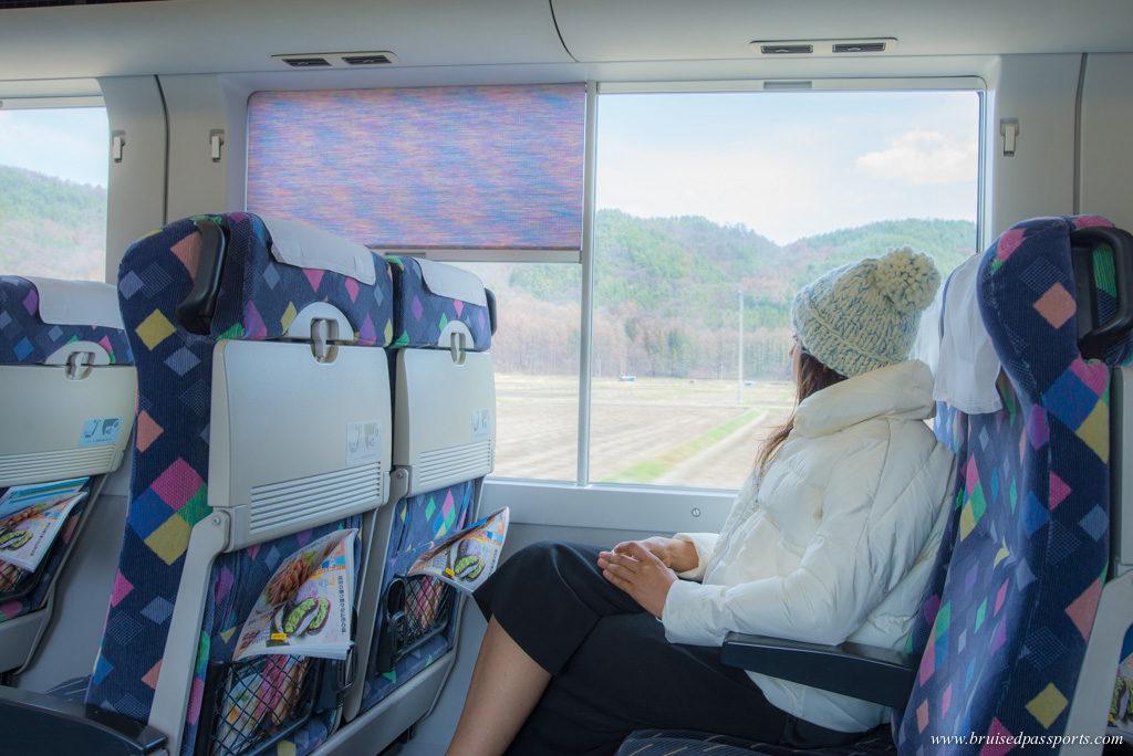 JR train from Tokyo to Hakuba