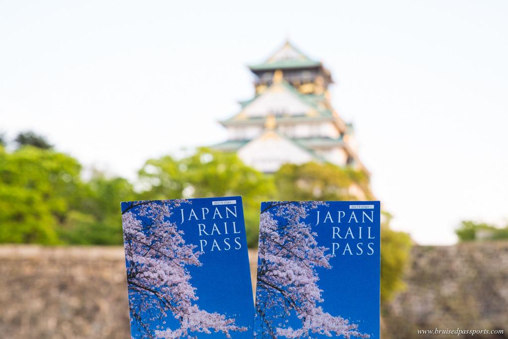 JR Passes in Osaka castle
