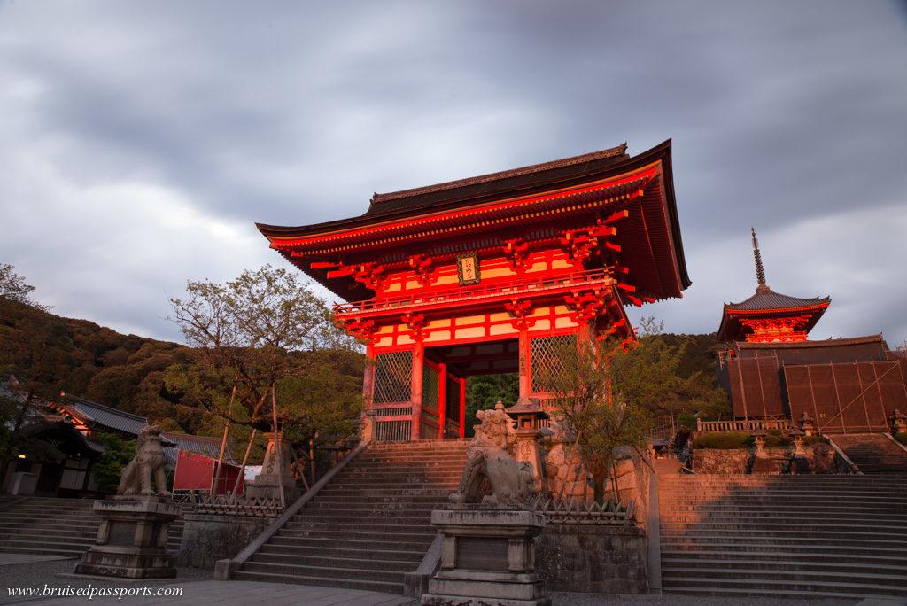 Sunset at kiyomizu Dera