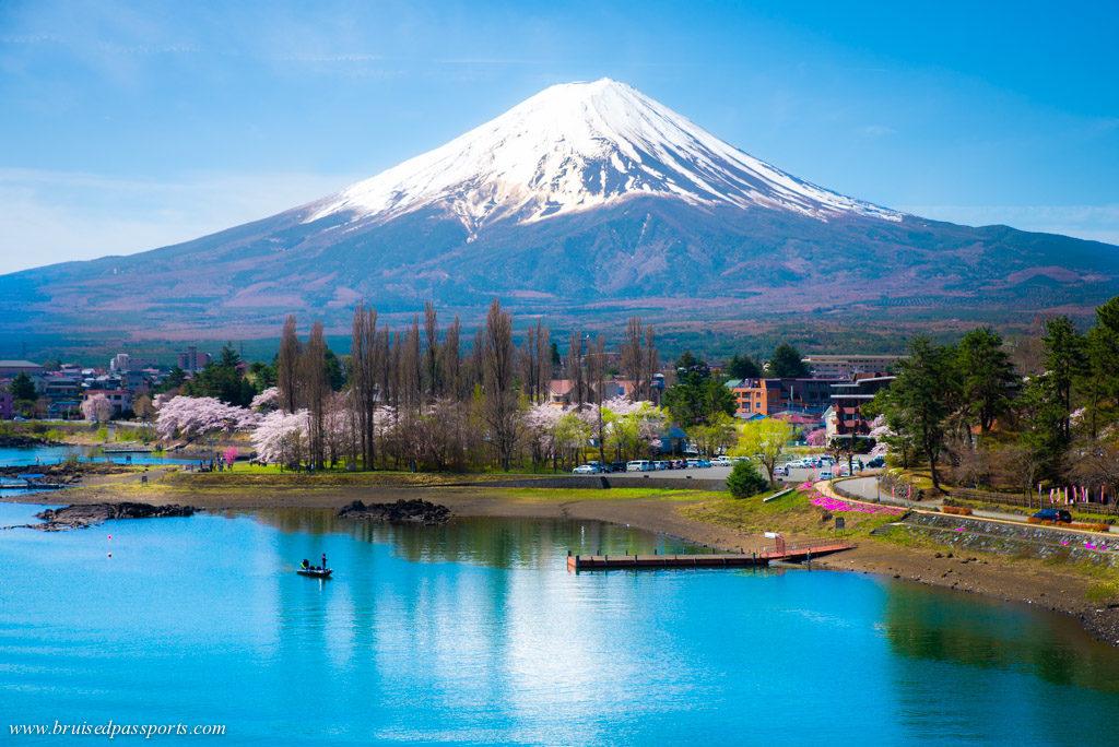 Mt. Fuji from Ohashi bridge Kawaguchiko