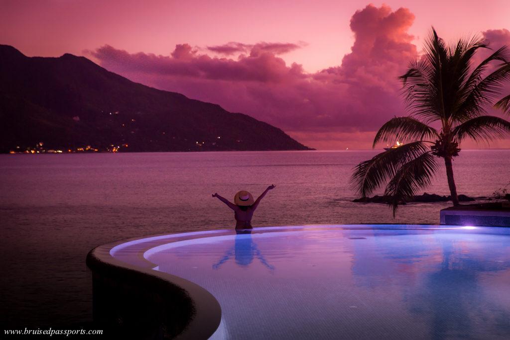 Gorgeous infinity pool Hilton Northolme Mahe