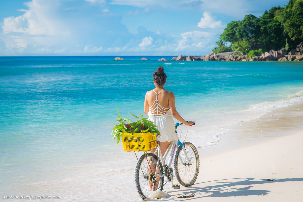 bike rental in la Digue Seychelles