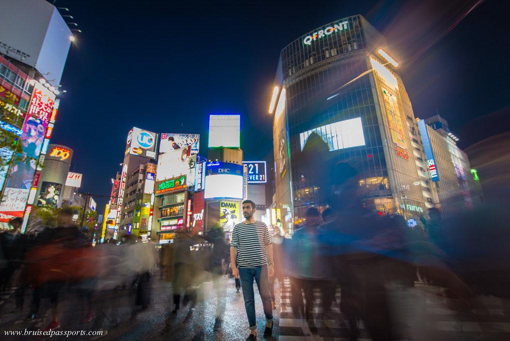 A guy on Shibuya crossing