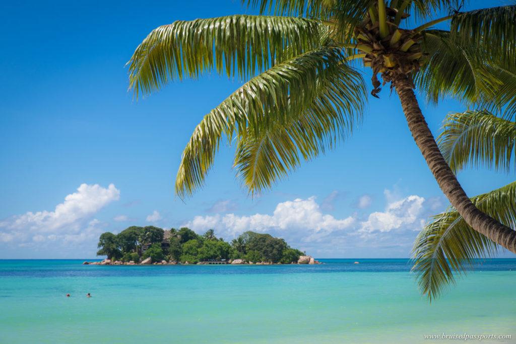 lunch on the beach at Le Duc de Praslin Seychelles