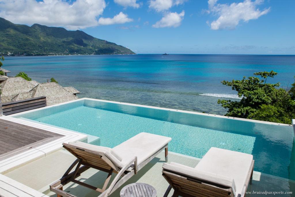 Seychelles pool villa at Hilton Northolme