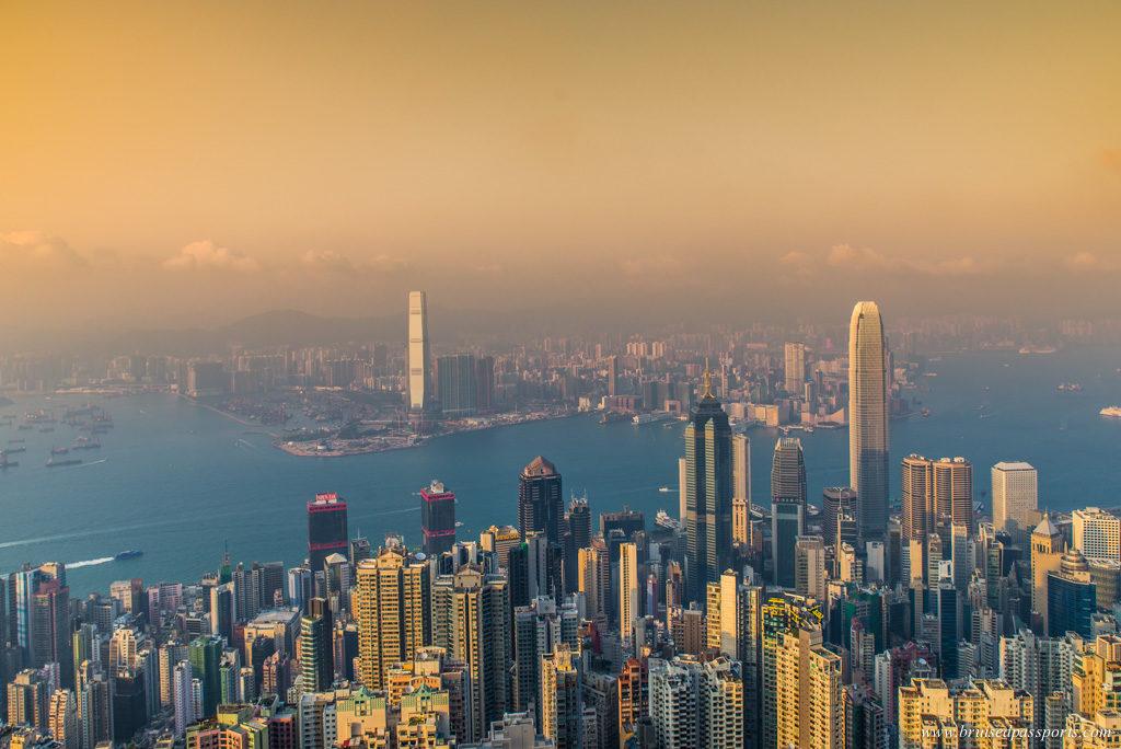 Sunset Hong Kong from Victoria Peak