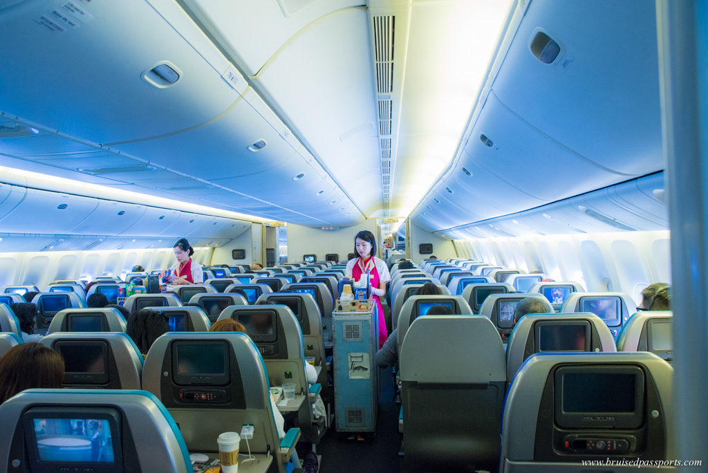 Cathay Pacific airways economy class cabin