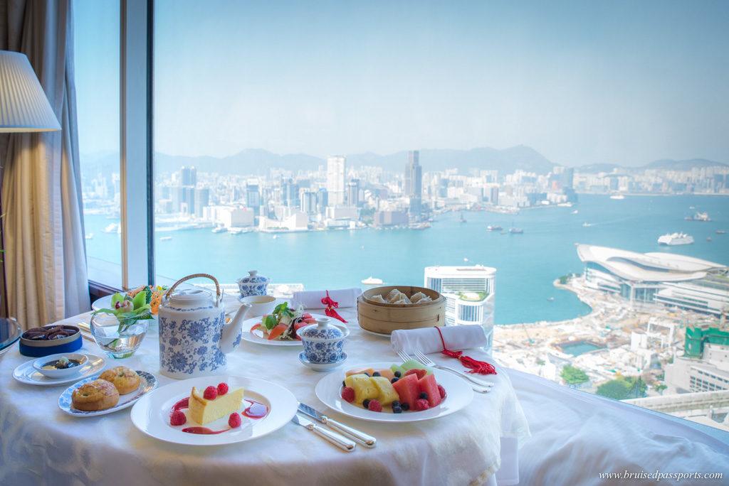 in-room breakfast at Island Shangri-La Hong Kong