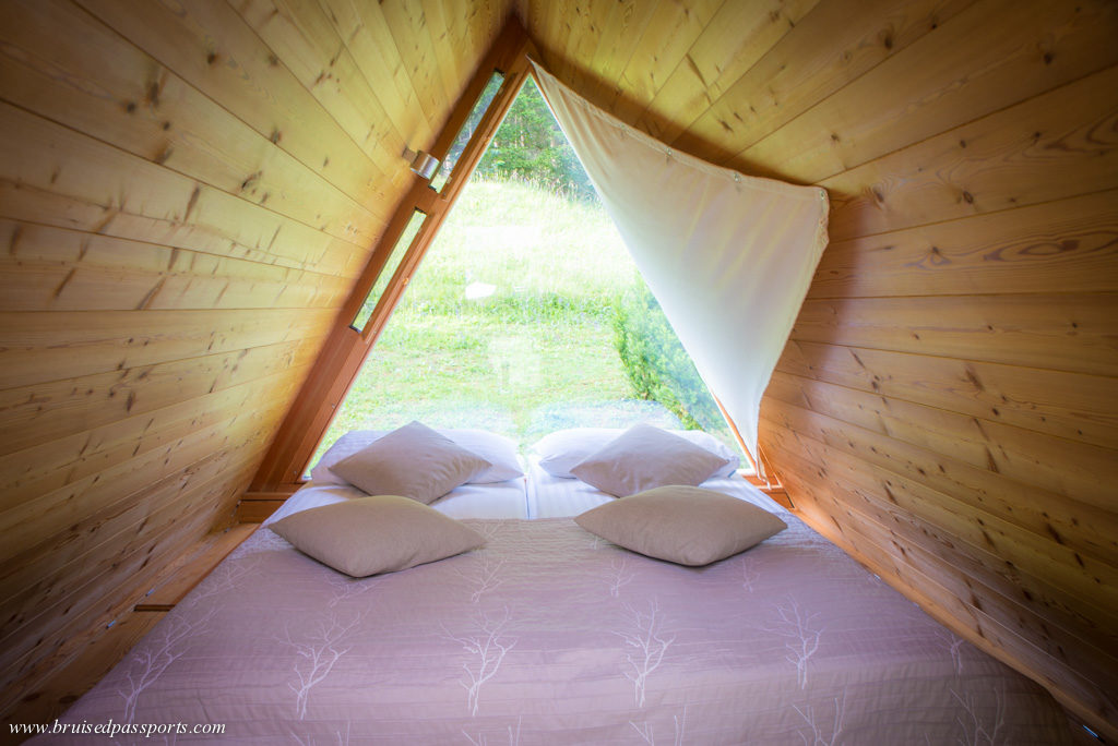 Lake bled glamping hut bedroom