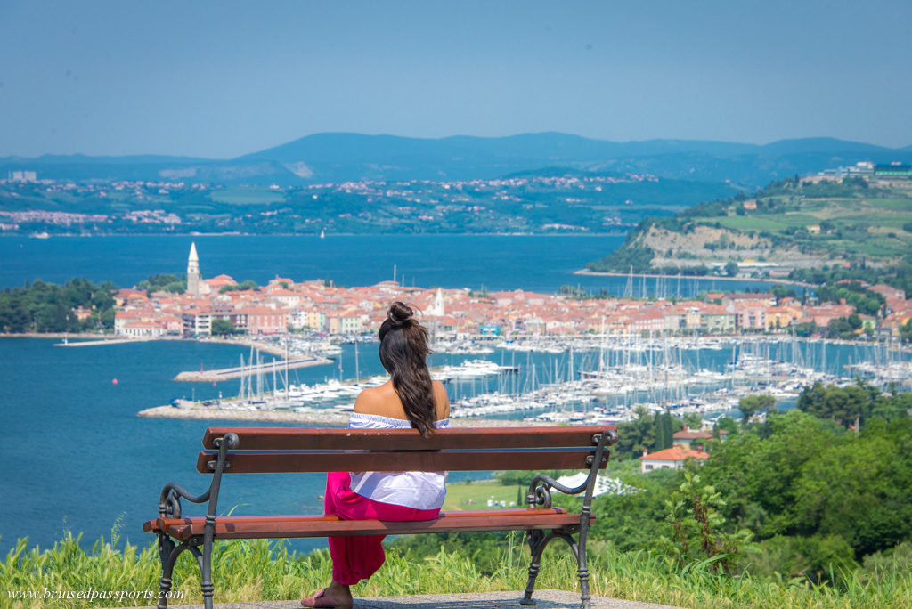 Vantage point for Izola in Slovenia