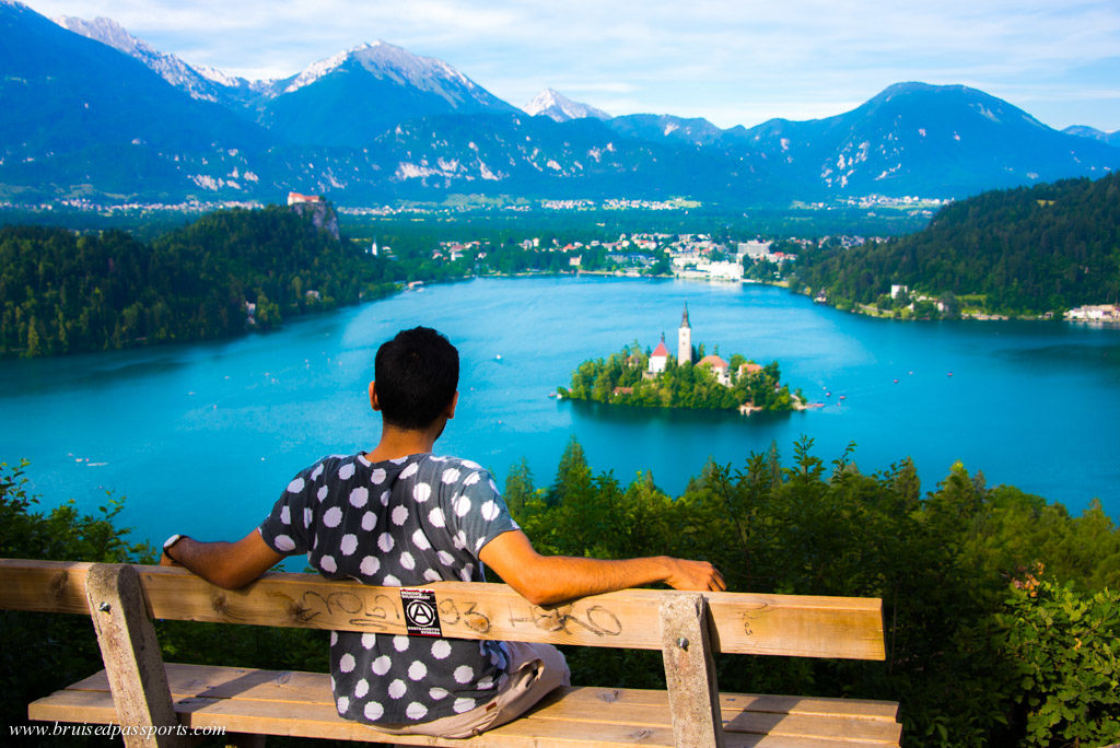 View of Lake Bled from Ojstrica vantage point