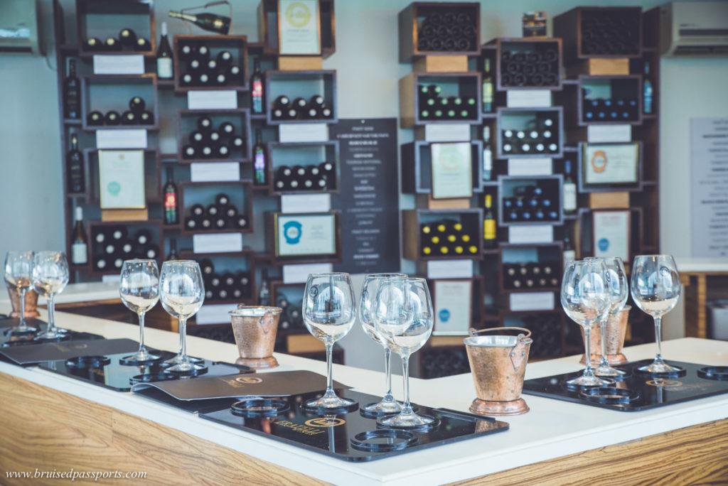 Wine tasting room at Fratelli vineyards in Akluj Maharashtra