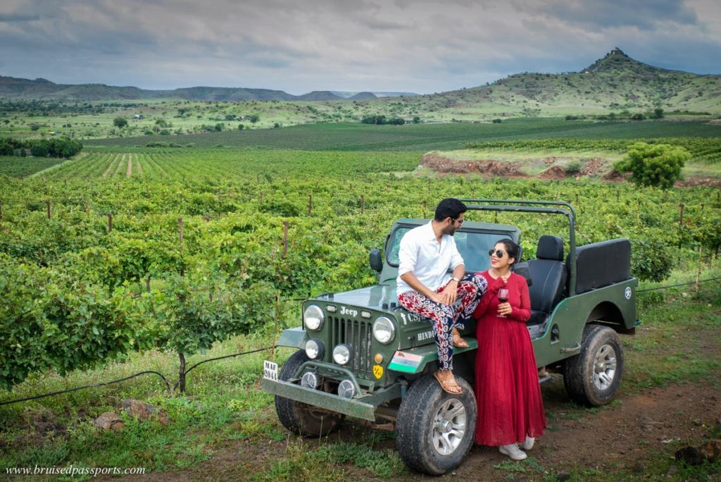 Jeep ride at Fratelli vineyards in Akluj Maharashtra