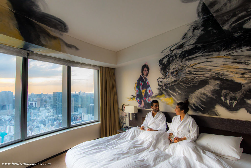 Park Hotel Tokyo artist room with Dragon