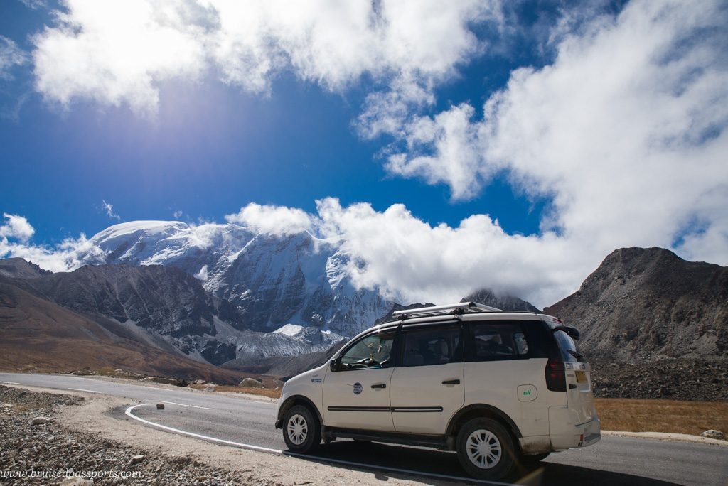 Driving around in Sikkim in Xylo Innova
