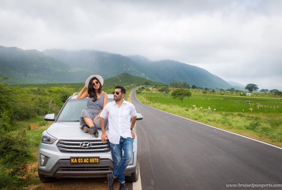 couple on road trip in Mysore Karnata