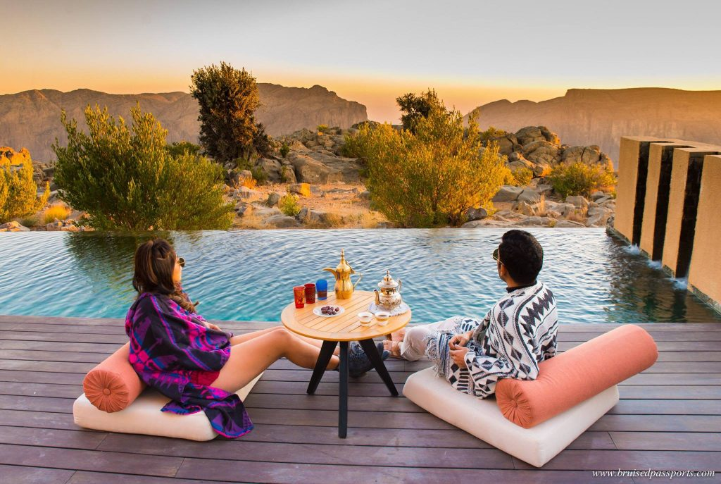 Couple at Anantara Jebel Akhdar Oman Itinerary