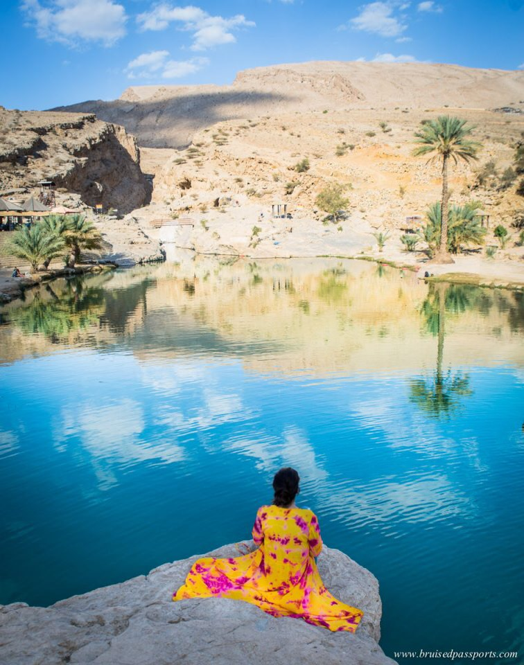 girl at Wadi Bani Khalid