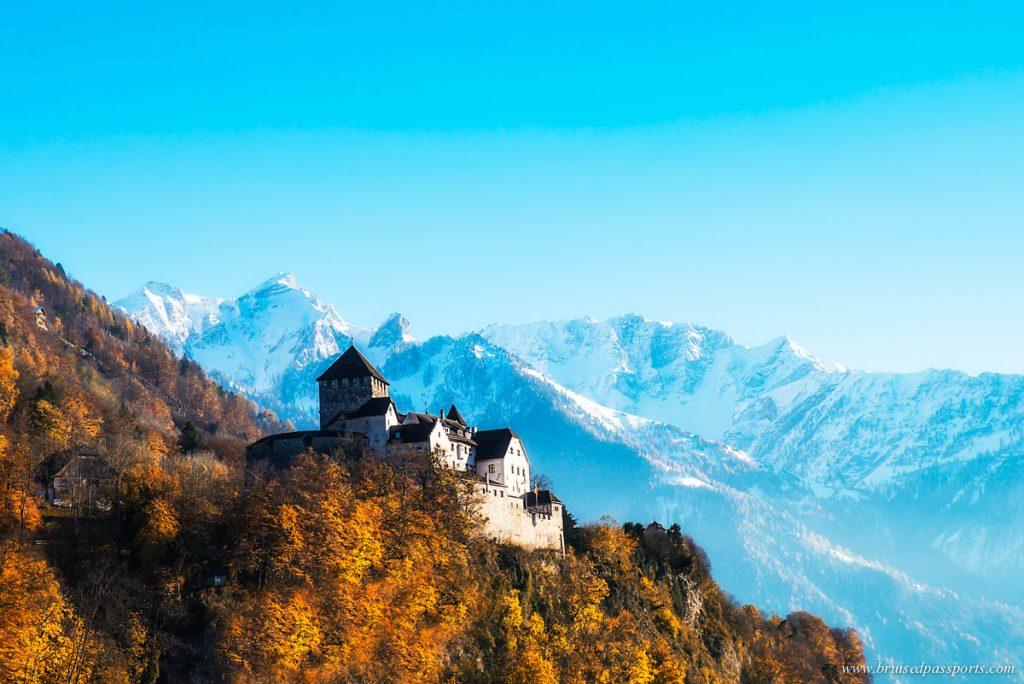 Vaduz castle on a day trip to Liechtenstein from Switzerland