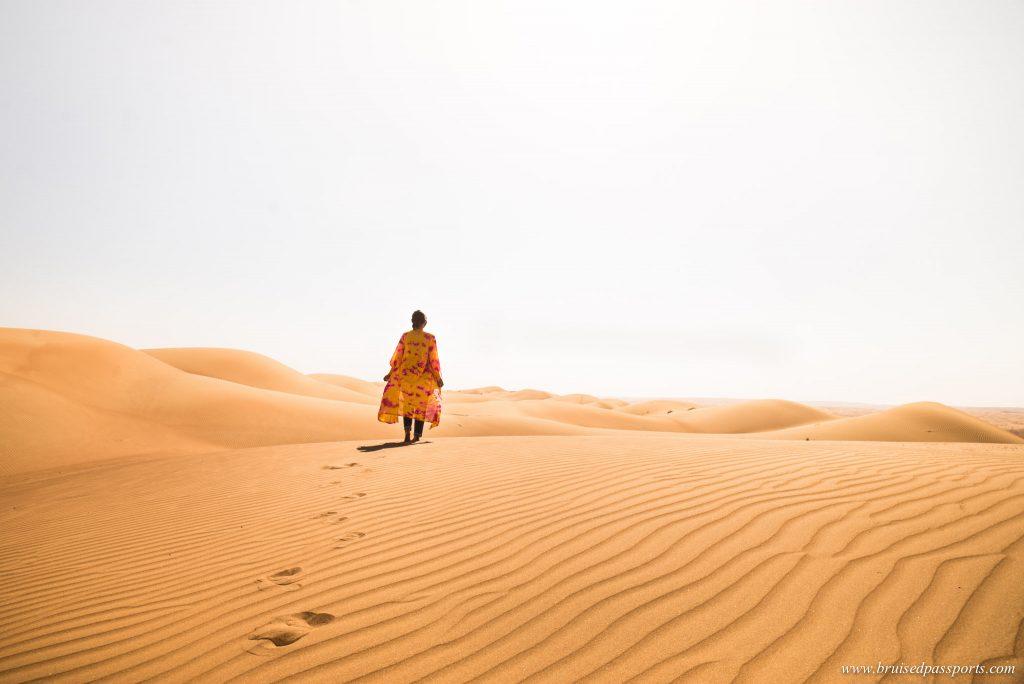 Wahiba sand dunes in Oman