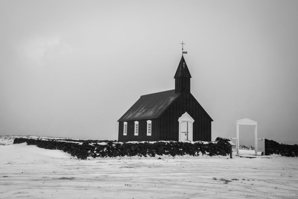 Black church of Budir in Snaefellsness