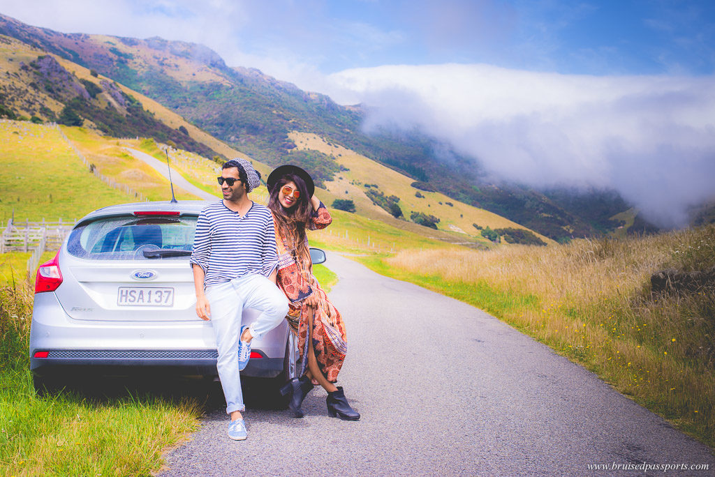 Couple in New Zealand - best road trip in the world