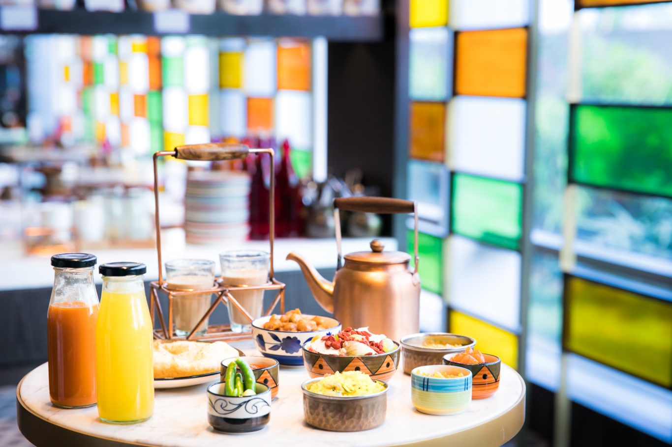 Indian street food and other local delicacies on offer at Annamaya , Andaz Delhi