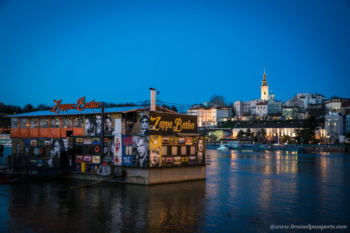 floating nightclub on Sava river in Belgrade