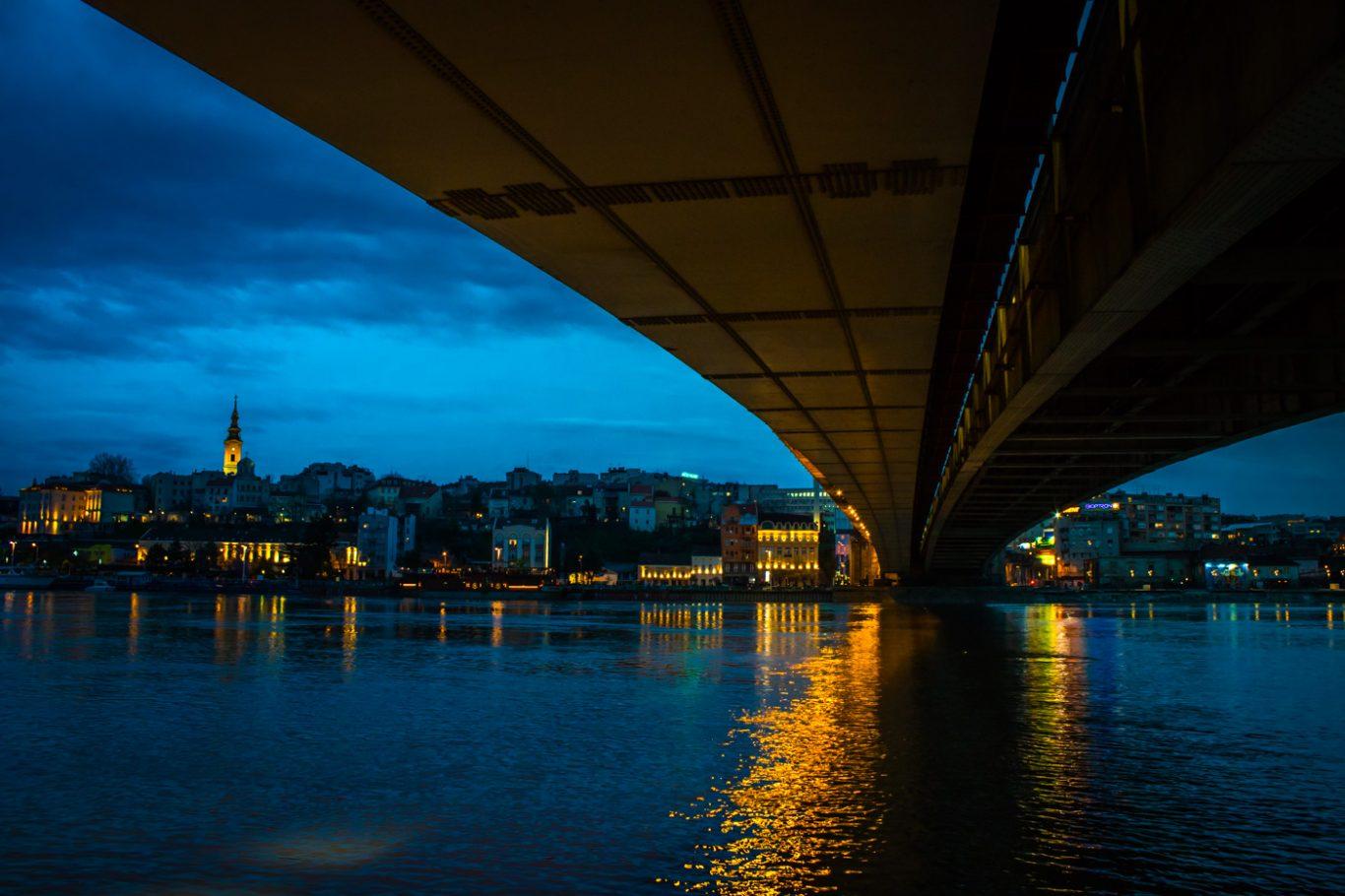Branko bridge in Belgrade Serbia