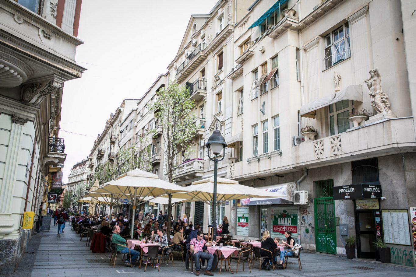 Knez Mihajlova street in Belgrade