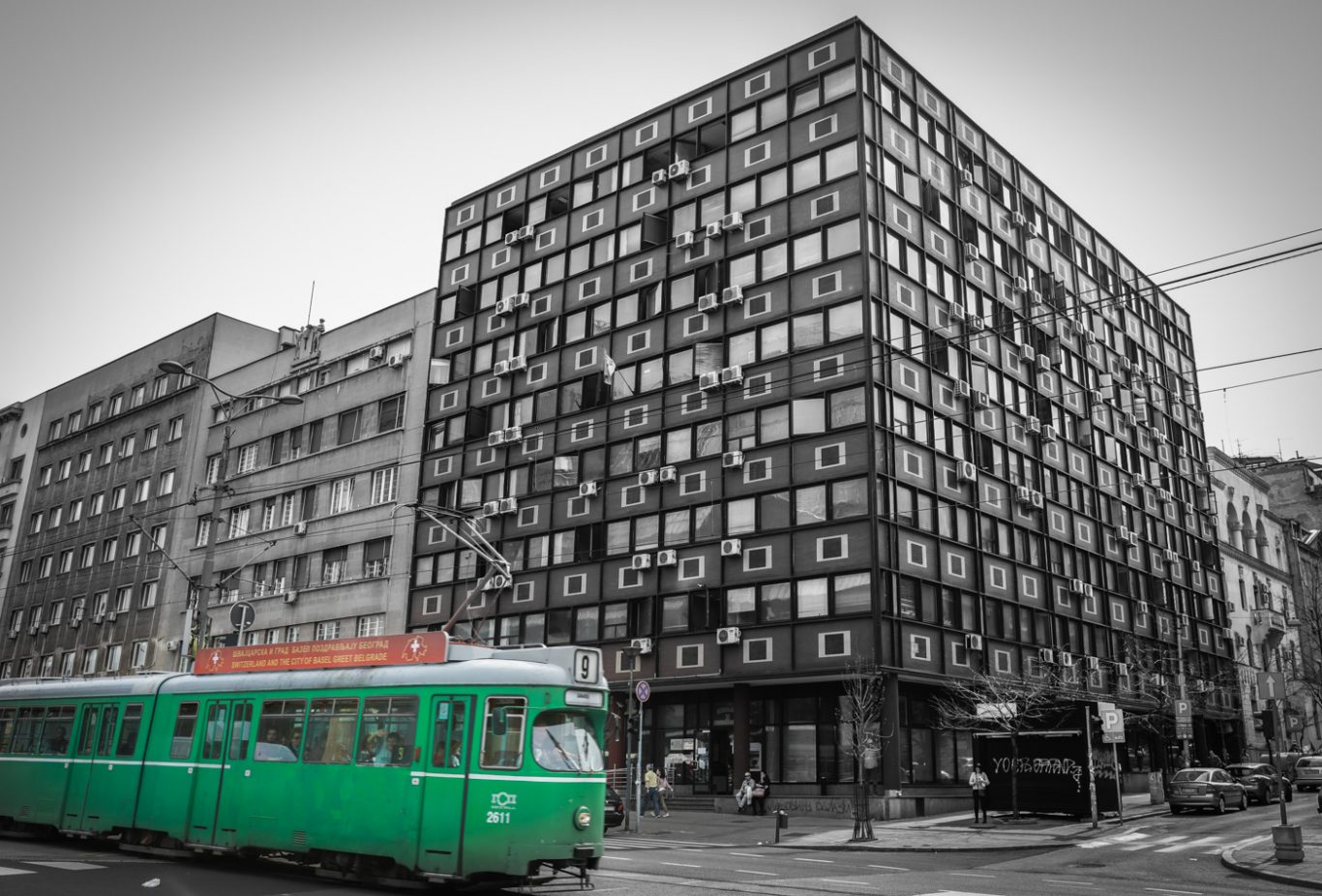 Tram in Belgrade Serbia