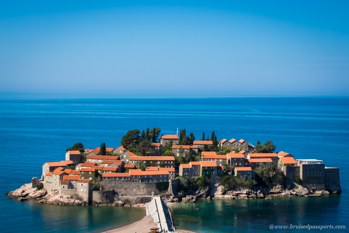 Sveti Stefan view point photo