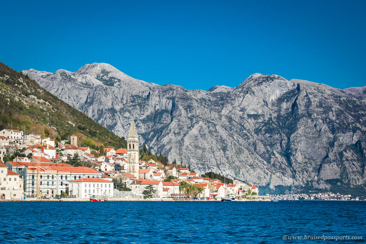 Perast in Bay of Kotor - a boat ride to the island