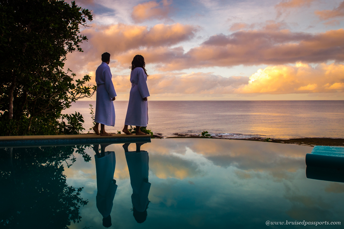 Sunrise from Civa villa at Namale Resort and Spa Fiji